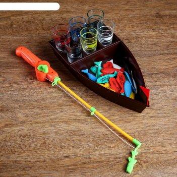 Игра пьяная рыбалка, лодка 30х16 см, 6 стопок