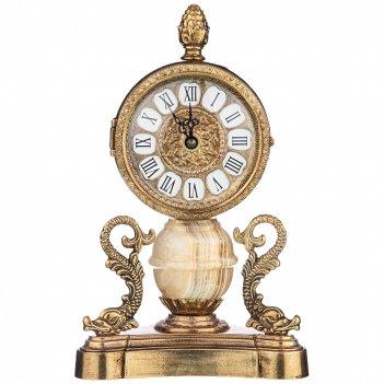 Часы настольные (кварцевые) высота 14,5 см циферблата 9 см