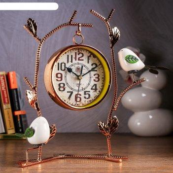 Часы настольные албюрг, 29х25х12.5 см, d=12 см, плавный ход