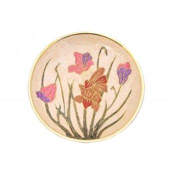 Панно цветы (латунь) d=20