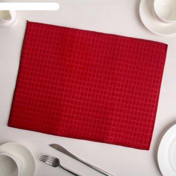 Коврик для сушки посуды 30x40 см, микрофибра, цвет красный