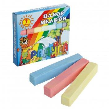 Мелки цветные «пегас», в наборе 7 штук, квадратные