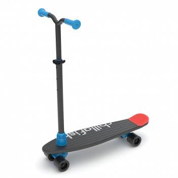 Детский скейтборд-самокат 2 в 1 chillaifish skatie skootie (бельгия) (черн