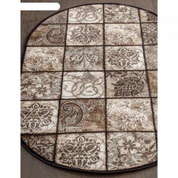 Овальный ковёр valencia deluxe d328, 200x300 см, цвет brown