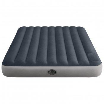 Матрас надувной single-high, 152 х 203 х 25 см, встроенный насос на батаре