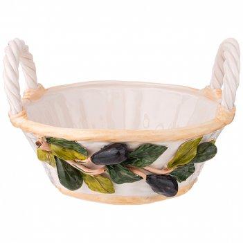 Фруктовница корзина с оливками