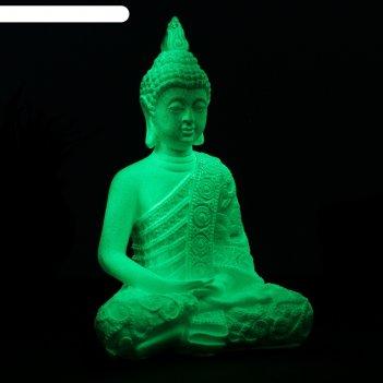 Светящаяся статуэтка будда малый 24х16х10см