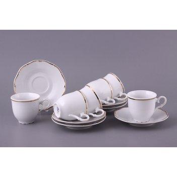 Кофейный набор на 6 персон 12 пр. офелия 662 140 мл