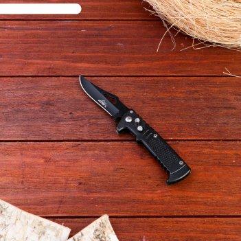 Нож перочинный мастер к., лезвие со скосом с отверстием 6,5см, рукоять чер