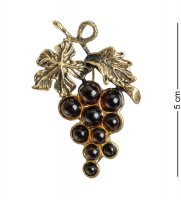 Am-1625 брошь виноград (латунь, янтарь)