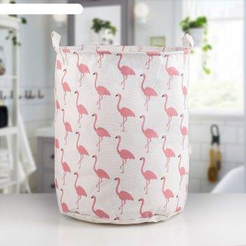 Корзина универсальная фламинго