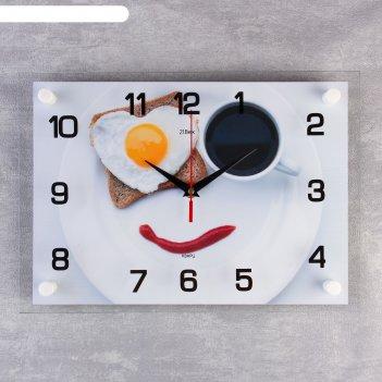 Часы настенные, серия: кухня, завтрак, 25х35  см, микс