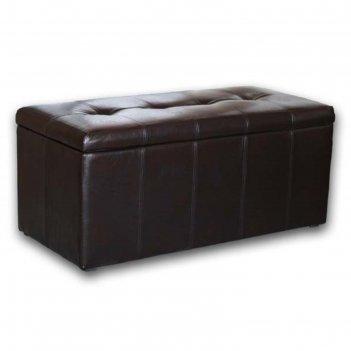 Банкетка-пуф «лонг», коричневая