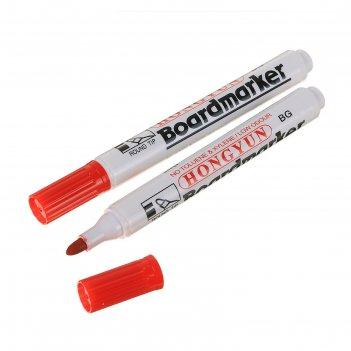 Маркер для магнитно-маркерной доски круг 3мм красный