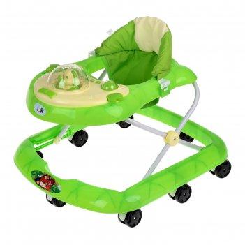 Ходунки «водитель», музыкальные и световые эффекты, цвет зелёный