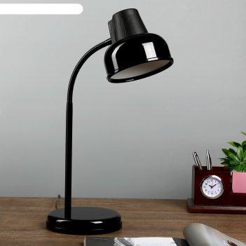Настольная лампа бета_ш e27 60вт черный гибк.стойка 45см