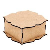 Шкатулка для декора квадрат (набор 7 деталей)