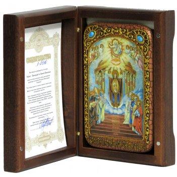 Настольная икона софия - премудрость божия (киевская) на морен