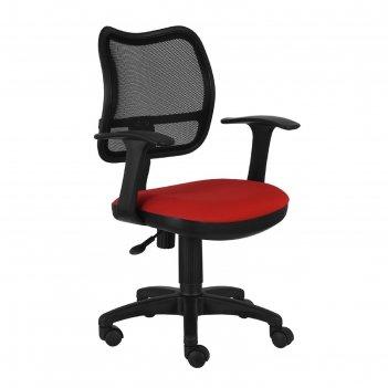 Кресло ch-797axsn/26-22 спинка сетка черный сиденье красный