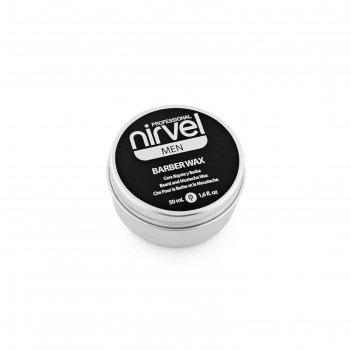Воск лёгкой фиксации nirvel professional barber для бороды и усов, 50 мл