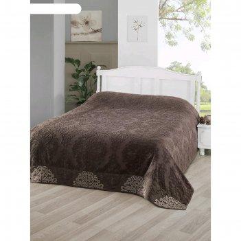 Простыня ottoman 200x220 см, цвет тёмно-коричневый