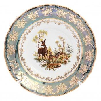 Набор тарелок глубоких carlsbad фредерика охота зеленая 23 см(6 шт)