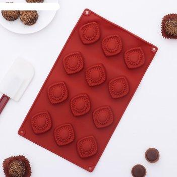 Форма для льда и шоколада медальончики, 12 ячеек