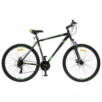 Велосипед 29 stels navigator-900 md 29 f010 цвет чёрный/зелёный размер 21