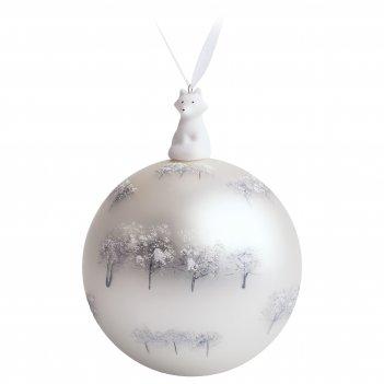 Елочный шар с фигуркой «зимний лес», 10 см