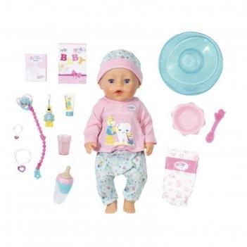 Кукла интерактивная бэби борн. чистим зубки с аксессуарами, 43 см 827-086
