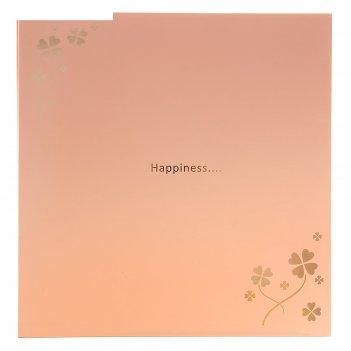 Фотоальбом магнитный 20 листов любовь навсегда дымчато-розовый микс 29,5х2