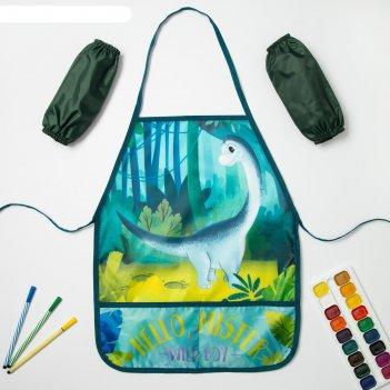 Набор детский для творчества collorista джунгли фартук 49 х 39 см и нарука