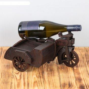 Мини-бар деревянный мотоцикл с коляской