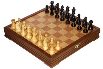 Подарочные шахматы деревянные средние утяжеленные 37х37см