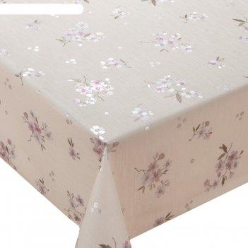 Клеенка столовая meiwa lp-230 pk, 140 см, рулон 20 п.м., розовый