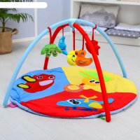 Коврик развивающий с дугами «транспорт», 5 игрушек