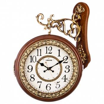 Часы настенные кварцевые с двойным циферблатом 43*13*55,5 см. диаметр=26 с