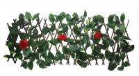 Декоративное ограждение красная роза 210x25 см