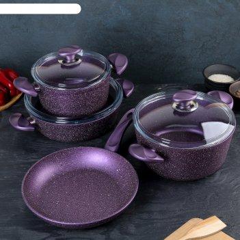 Набор посуды wilma, 4 предмета: сковорода 26 см,сотейник 3 л, кастрюли 2,4