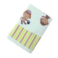 Полотенце махровое купу-купу обезьянки, размер 45х90 см, цвет жёлтый, хлоп