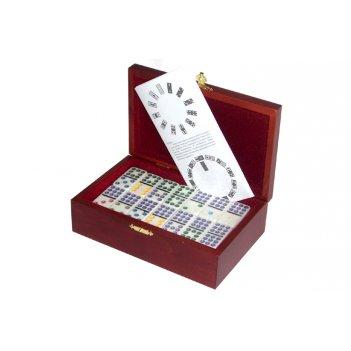 Rt-255 домино профессиональное d9 в деревянной шкатулке с флоком