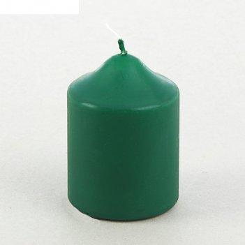 Свеча бочонок 70*90 зеленая
