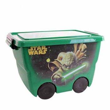 Ящик для игрушек звездные войны м2550-з зеленый