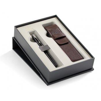 Подарочный набор parker: перьевая ручка parker sonnet black lacquer ct + ч