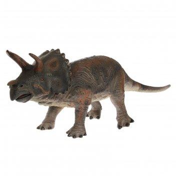 Динозавр «трицератопс», 2 вида, микс