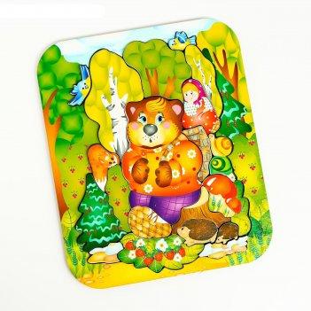Деревянный пазл маша и медведь арт 8287