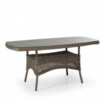 Стол плетеный brafab rosita natur, садовая мебель