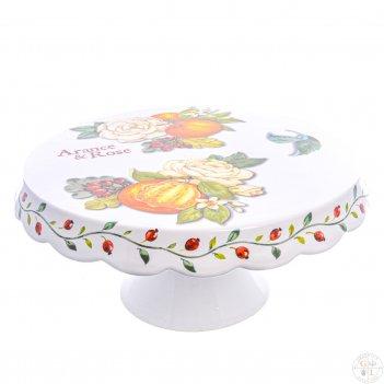 Блюдо для торта на ножке nuova cer 32см