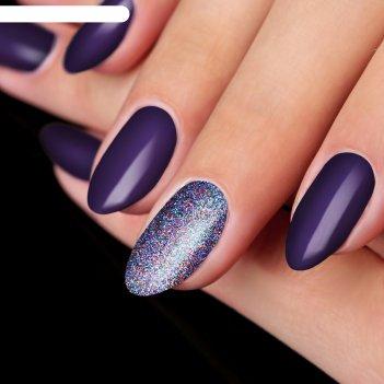 Жидкий глиттер для ногтей «радужная россыпь», с аппликатором, цвет фиолето