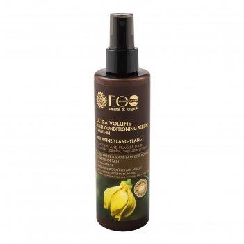 Сыворотка-бальзам для волос ecolab ультра-объем для тонких и ломких волос,